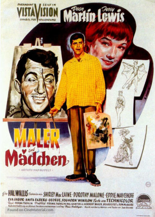 Artists and Models - German Movie Poster
