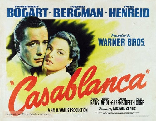 Casablanca - Movie Poster