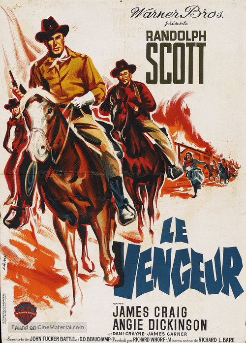 Shoot-Out at Medicine Bend - French Movie Poster