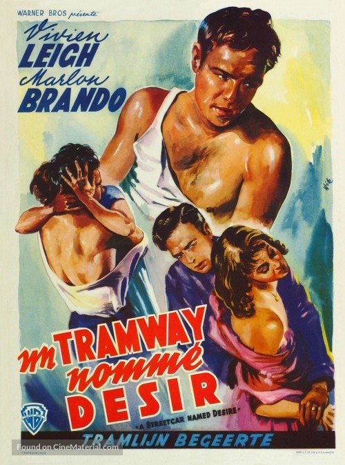 A Streetcar Named Desire - Belgian Movie Poster