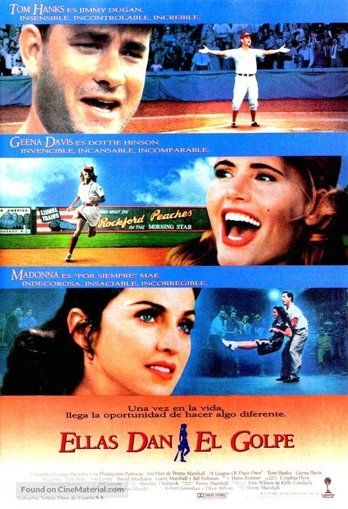 A League of Their Own - Spanish Movie Poster