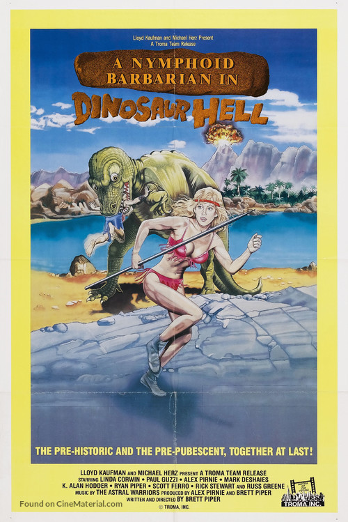 A Nymphoid Barbarian in Dinosaur Hell - Movie Poster