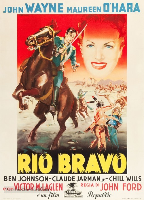 Rio Grande - Italian Movie Poster