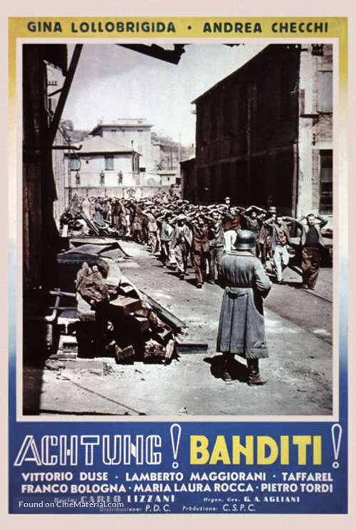 Achtung! Banditi! - Italian poster