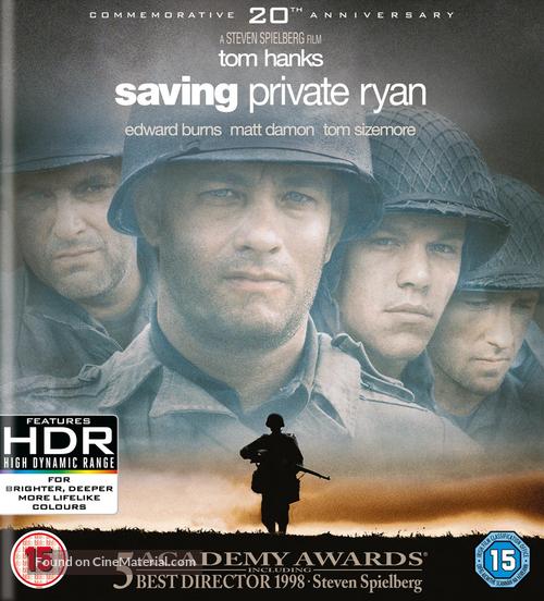 Saving Private Ryan - British Movie Cover