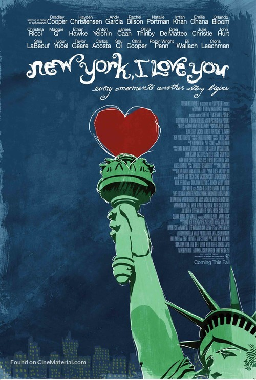 New York, I Love You - Advance movie poster