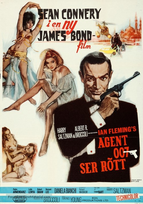 From Russia with Love - Swedish Movie Poster