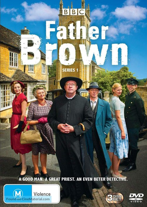 """""""Father Brown"""" - Australian DVD movie cover"""
