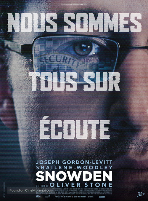 Snowden - French Movie Poster