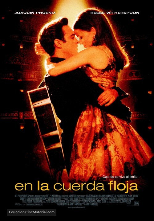 Walk the Line - Spanish Theatrical movie poster