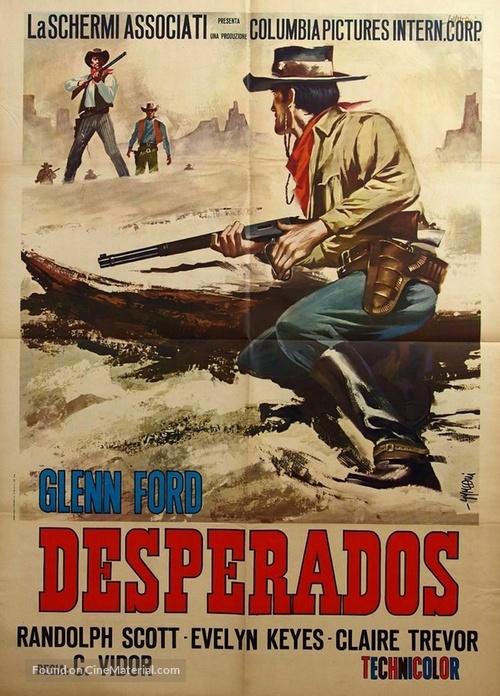 The Desperadoes 1943 Italian Movie Poster
