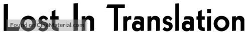Lost in Translation - Logo