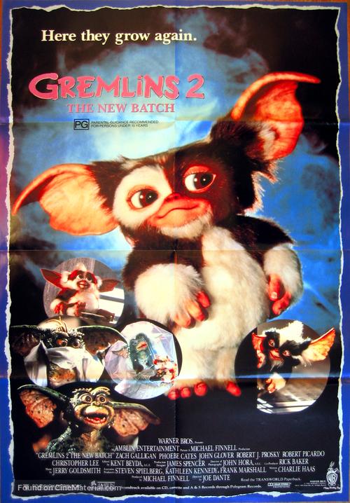 Gremlins 2: The New Batch - Australian Movie Poster