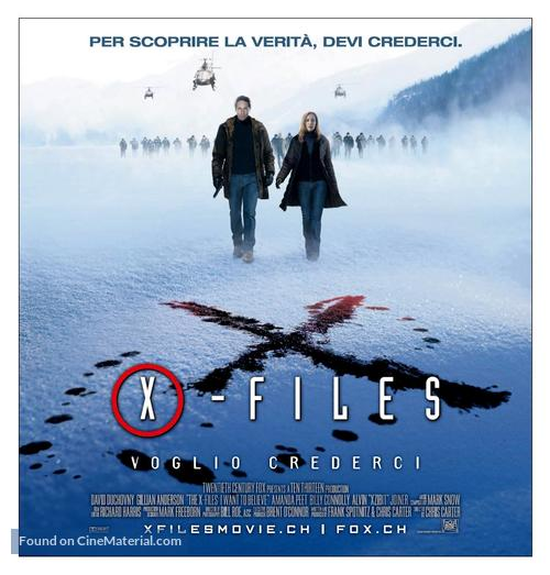 The X Files: I Want to Believe - Swiss Movie Poster