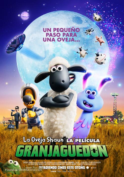 A Shaun the Sheep Movie: Farmageddon - Spanish Movie Poster