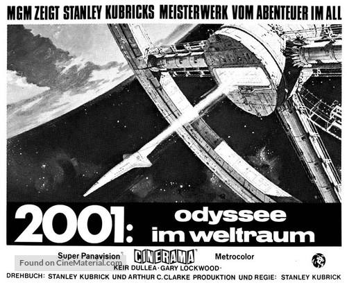 2001: A Space Odyssey - German Movie Poster