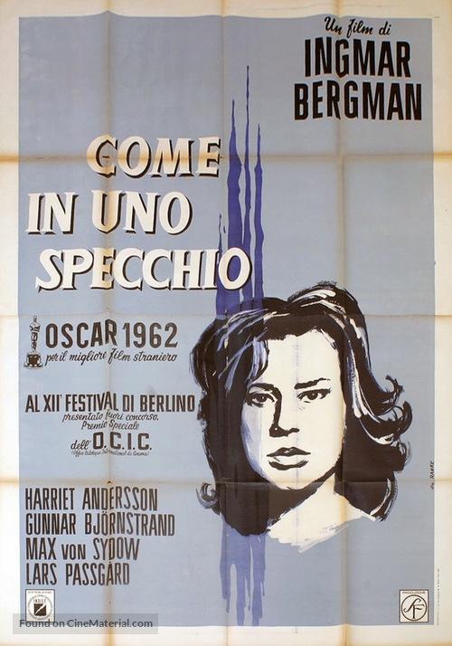Såsom i en spegel - Italian Movie Poster