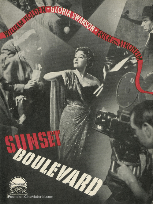 Sunset Blvd. - Danish Movie Poster