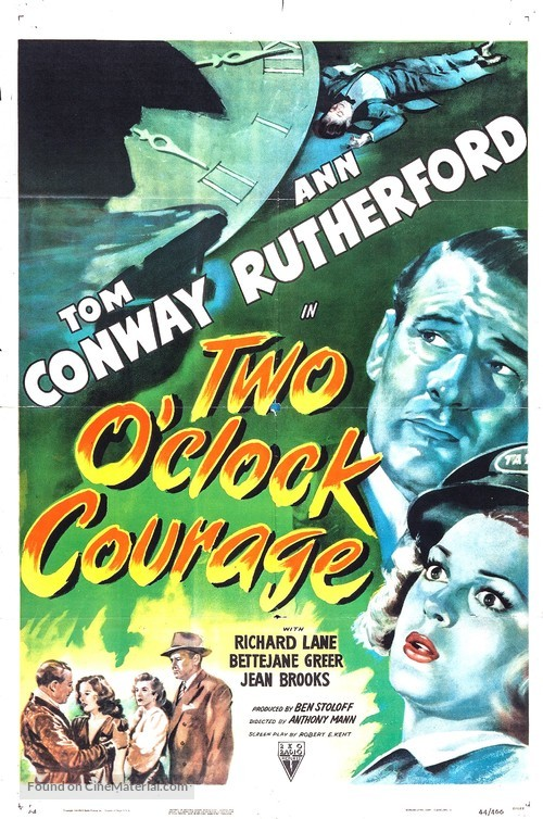 Two O'Clock Courage - Movie Poster