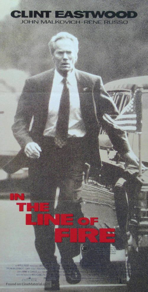 In The Line Of Fire - Australian Movie Poster