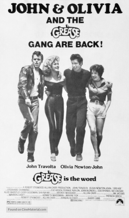 Grease - Re-release movie poster
