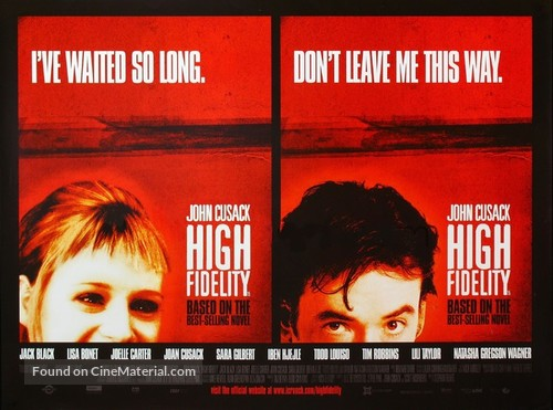 High Fidelity - British Movie Poster