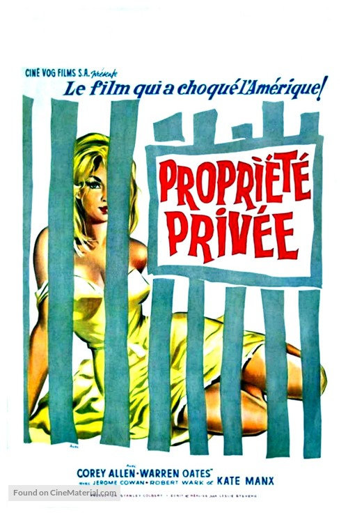 Private Property - Belgian Movie Poster