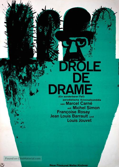 Drôle de drame ou L'ètrange aventure de Docteur Molyneux - German Movie Poster