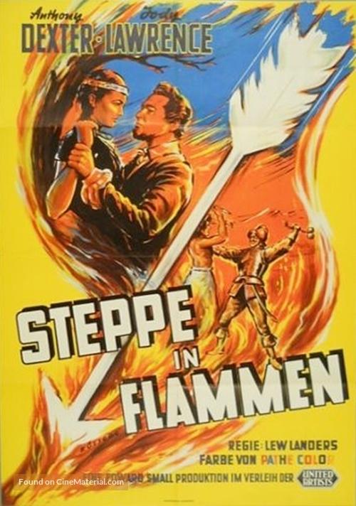 Captain John Smith and Pocahontas - German Movie Poster