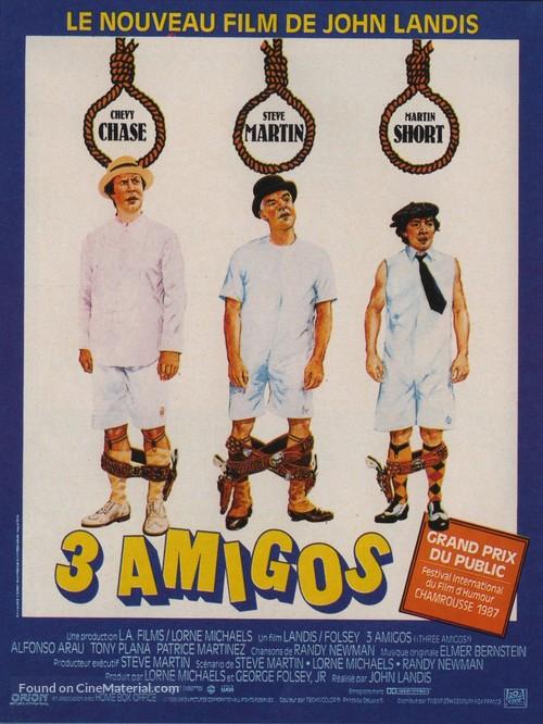 Three Amigos! - French Movie Poster