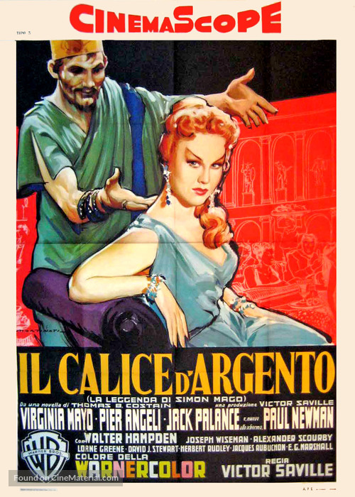 The Silver Chalice - Italian Movie Poster