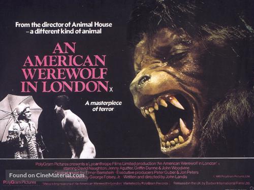 An American Werewolf in London - British Movie Poster