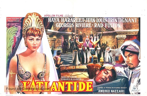 L'Atlantide - Belgian Movie Poster