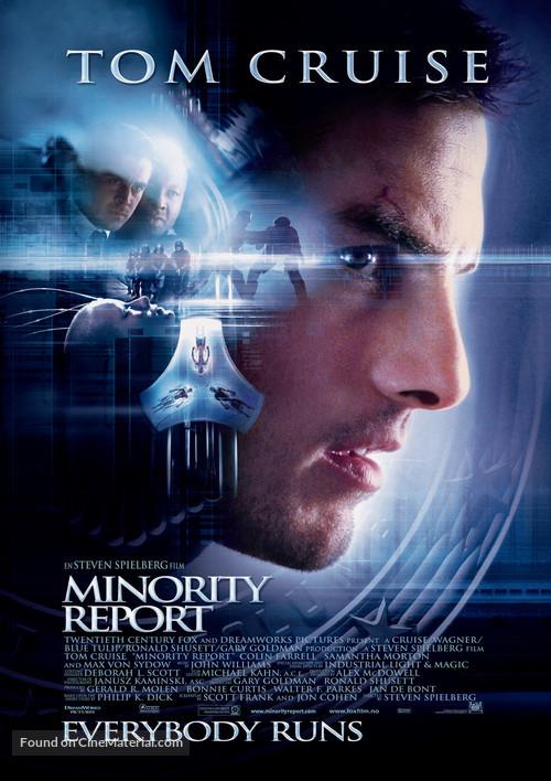 Minority Report - Norwegian Movie Poster