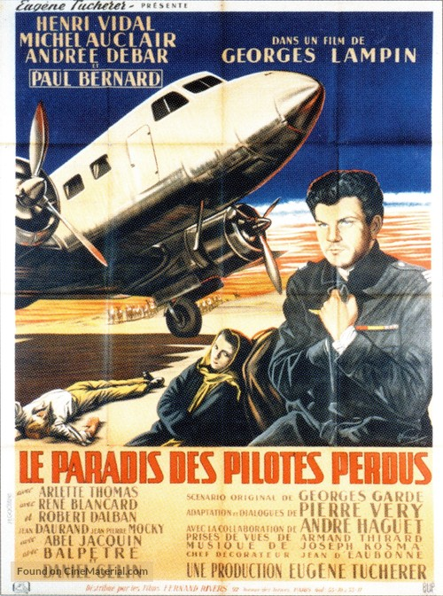 Le paradis des pilotes perdus - French Movie Poster