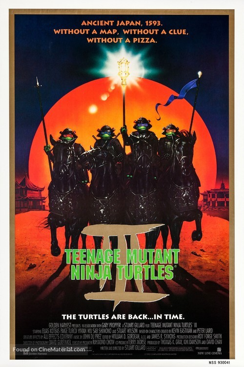 Teenage Mutant Ninja Turtles III - Movie Poster