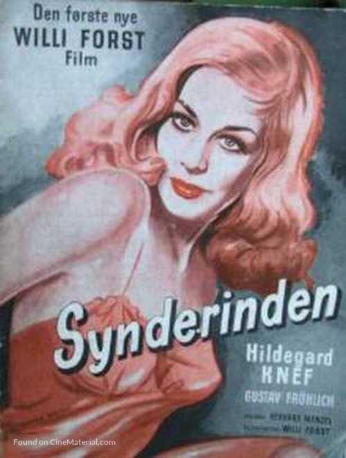 Sünderin, Die - Danish Movie Poster