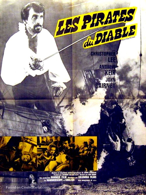 The Devil-Ship Pirates - French Movie Poster