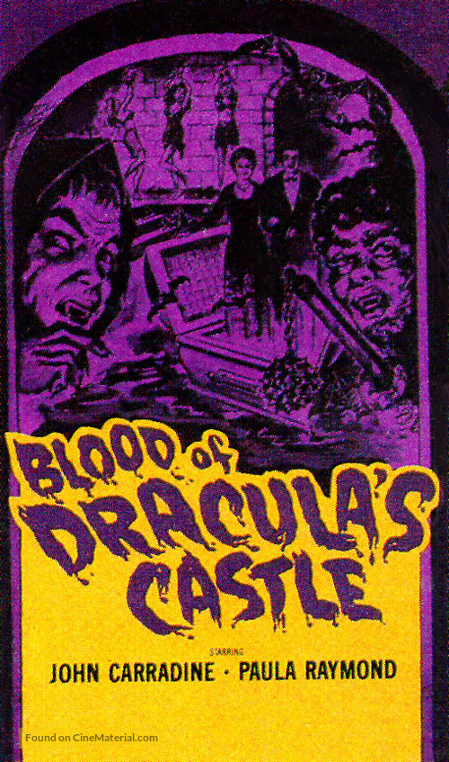 Blood of Dracula's Castle - VHS movie cover
