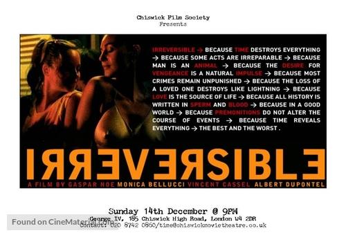 Irréversible - British poster