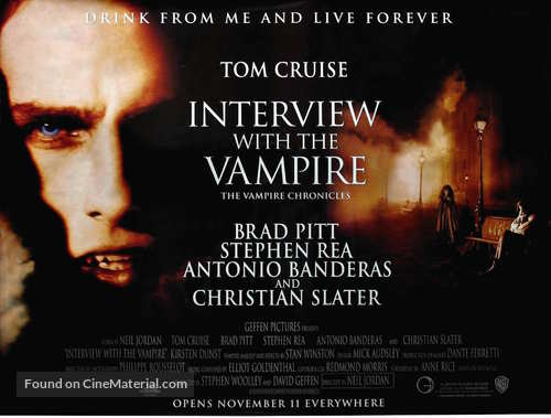Interview With The Vampire - British Movie Poster