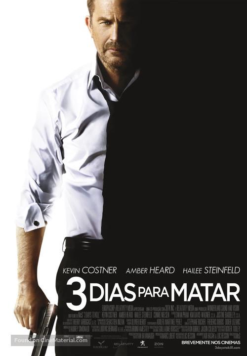 3 Days to Kill - Portuguese Movie Poster