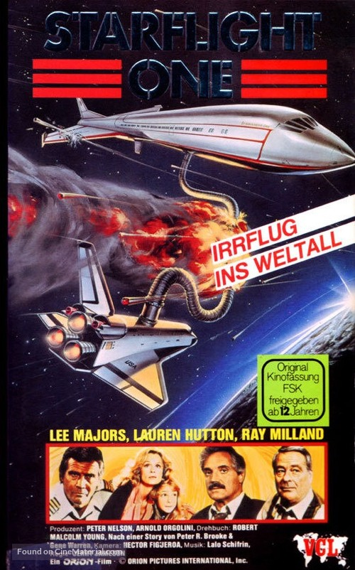 Starflight: The Plane That Couldn't Land - German VHS movie cover