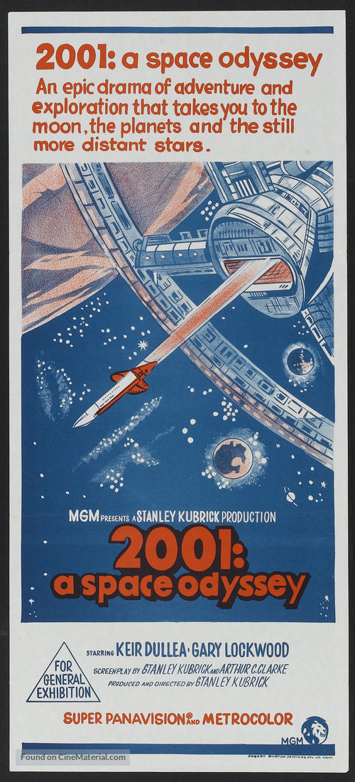 2001: A Space Odyssey - Australian Movie Poster