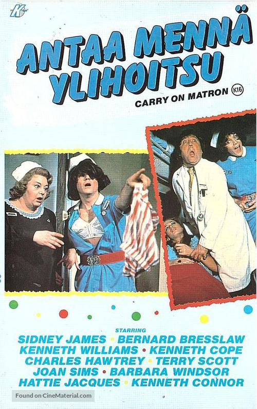 Carry on Matron - Finnish VHS movie cover