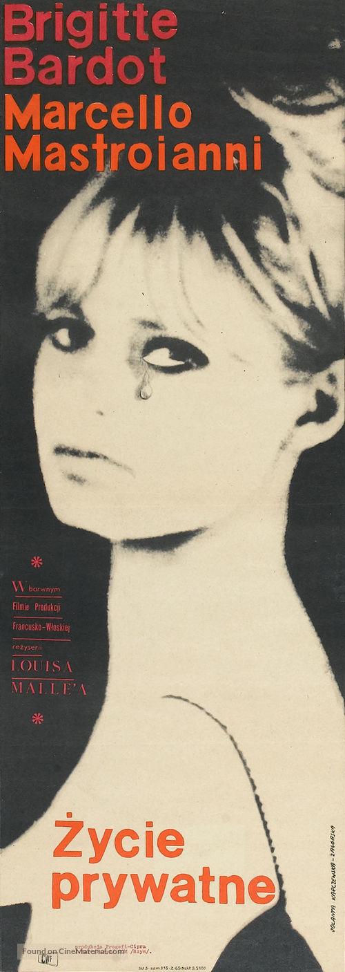 Vie privée - Polish Movie Poster