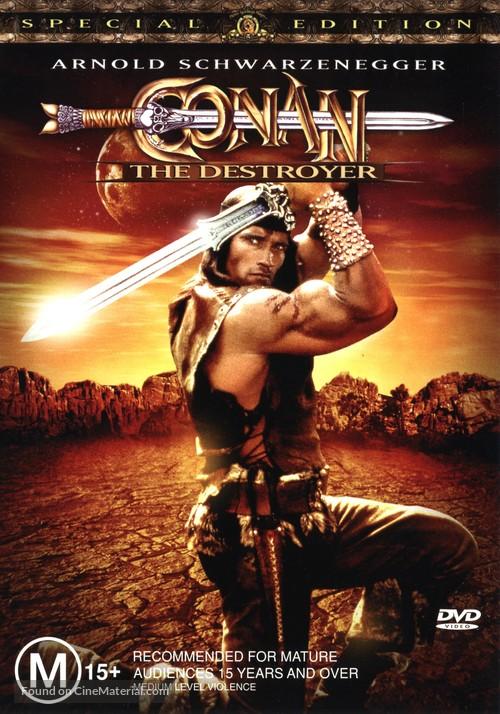 Conan The Destroyer - Australian DVD movie cover