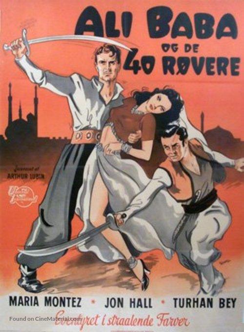 Ali Baba et les quarante voleurs - Danish Movie Poster