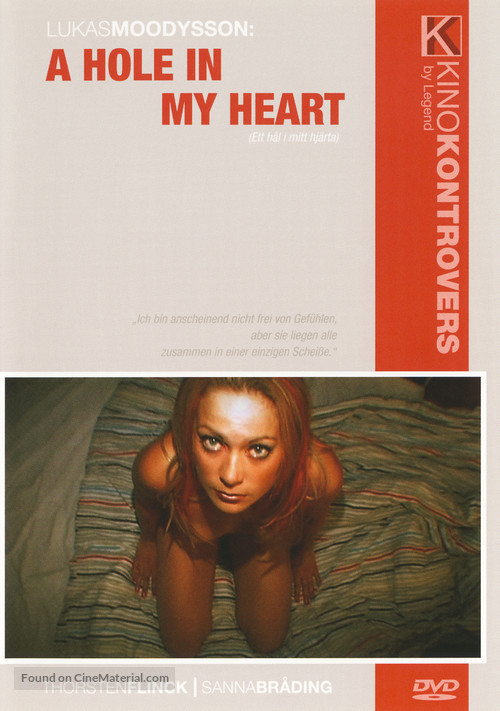 A Hole in My Heart - German DVD movie cover