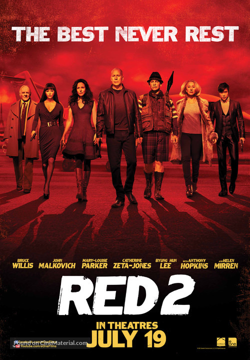 RED 2 - Canadian Movie Poster